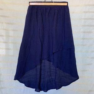 🆕 Navy High Low Skirt